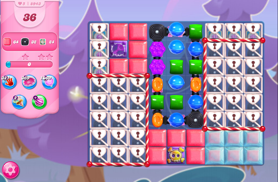 Candy Crush Saga level 8843