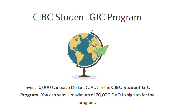 Guaranteed Investment Certificate (GIC) via  Canadian Imperial Bank of Commerce (CIBC)