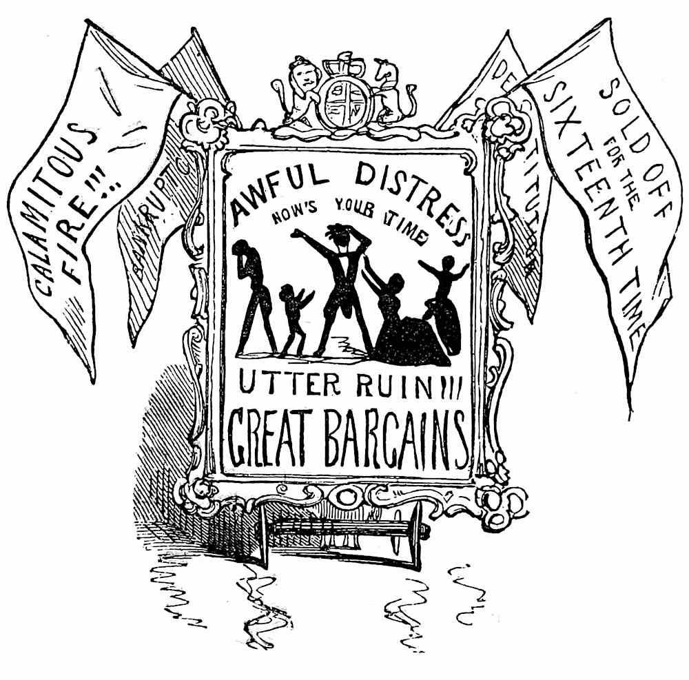 an 1851 cartoon about an old sales trick