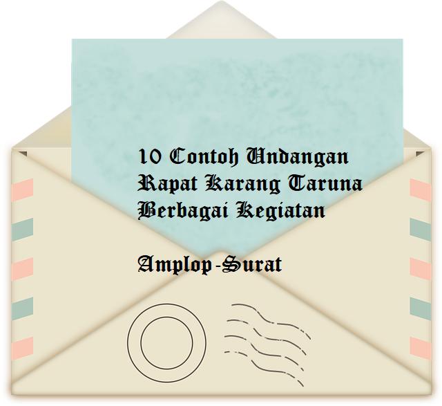 10 Contoh Undangan Rapat Karang Taruna Lengkap - Amplop ...