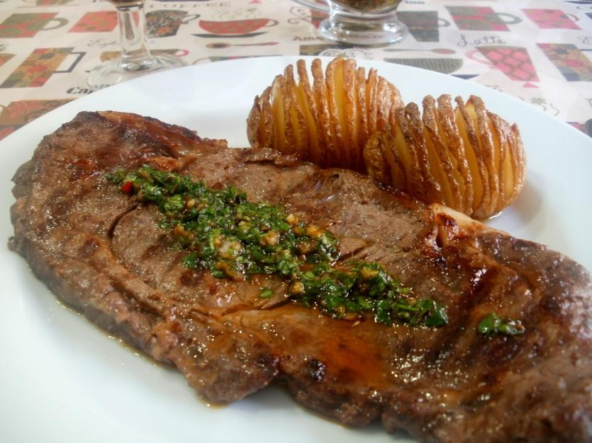 Entrecot A La Plancha Con Salsa Chimichurri Recetas
