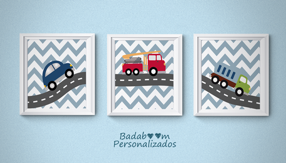 meio de transporte, prints, poster, posteres, fusca, caminhão, bombeiro, quadro, quadros, decoração, infantil
