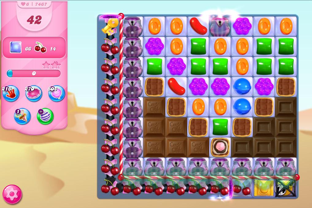 Candy Crush Saga level 7467