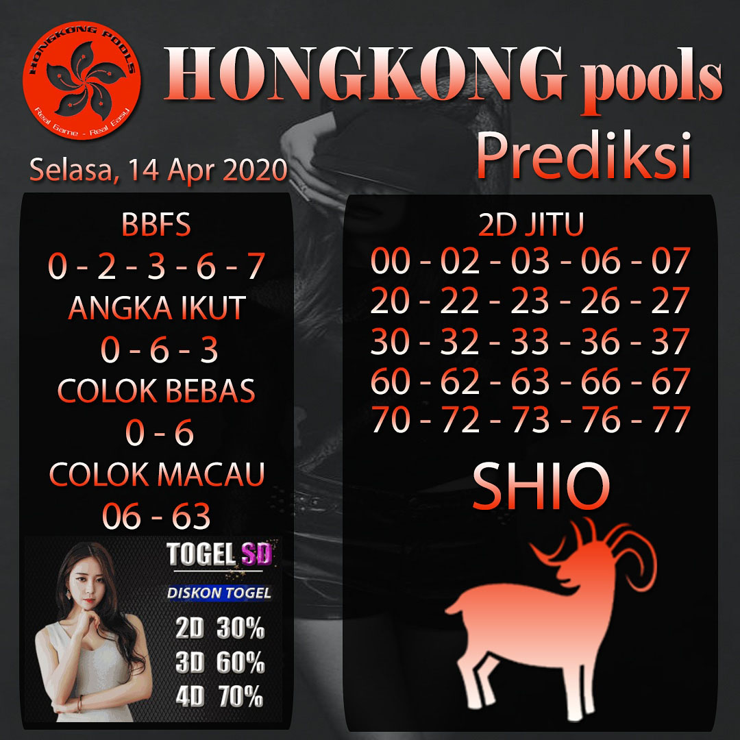Prediksi HK malam Ini Selasa 14 April 2020 - Prediksi LV Togel