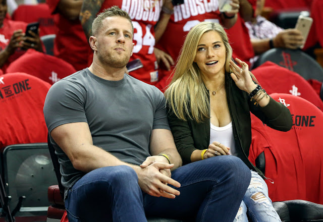 Kealia Ohai and J.J. Watt were married Saturday