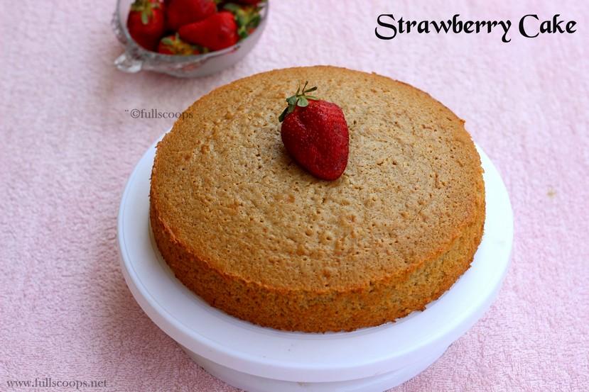 Clean Strawberry Cake