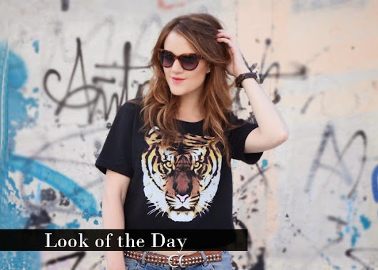 The Princess in Black: Look of the Day: Tiger Top & Boyfriend Jeans