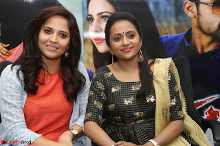 Actress Suma in Black Salwar Suit and Anusuya in orange Dress at winner movie press meet part 2 February 2017 (69).JPG
