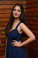 Radhika Mehrotra in a Deep neck Sleeveless Blue Dress at Mirchi Music Awards South 2017 ~  Exclusive Celebrities Galleries 048.jpg