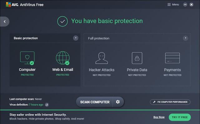 avg free antivisrus for windows10