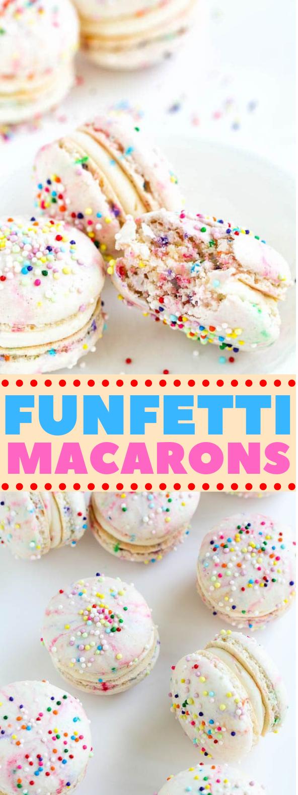 Funfetti Macarons #dessert #cookies
