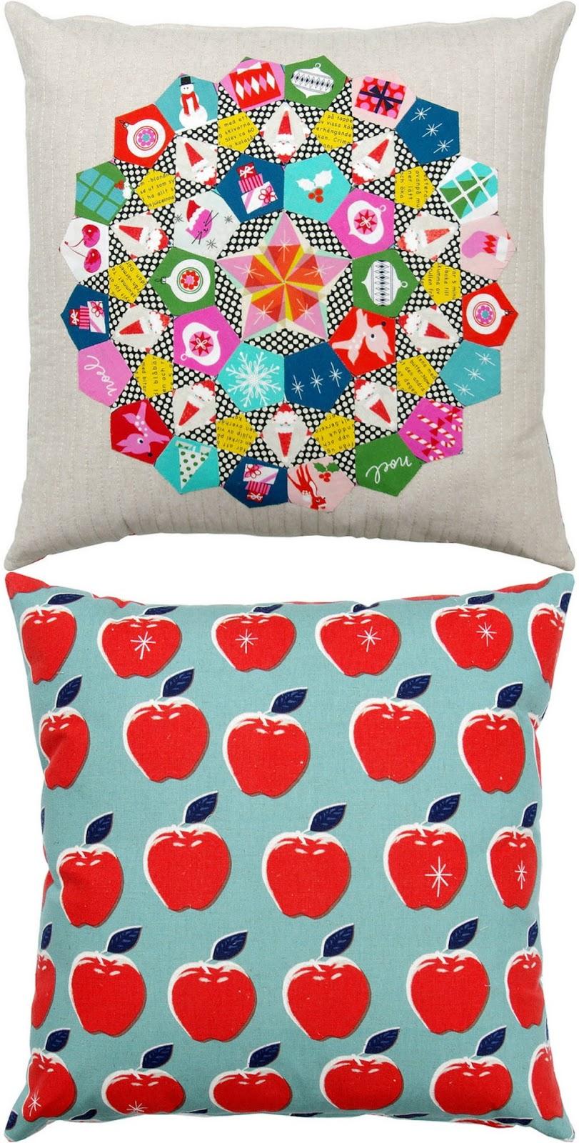 A Handmade Christmas - Garland Pillow Cover | © Red Pepper Quilts 2016