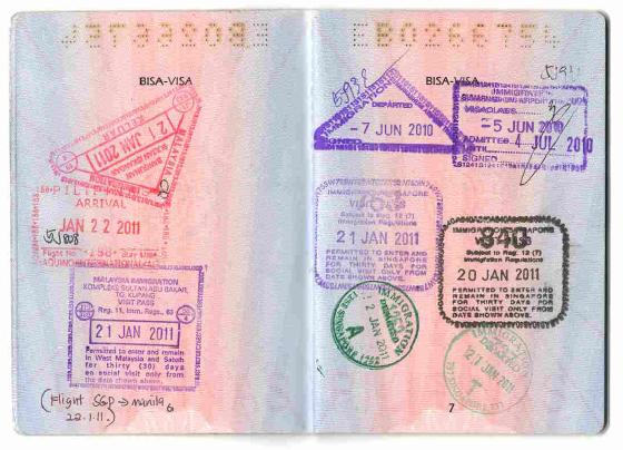 Collecting stamps inside Philippine passport when traveling - lost passport form