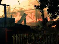 3 Rumah Warga Gentung Ludes Dilalap Api Saat Warga Laksanakan Ibadah Shalat Jumat