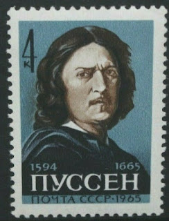 Soviet Union Russia 1965 Nicola Poussin 300th Death Anniv