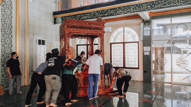 Proses Renovasi Kubah Masjid dimulai,DKM Al Muhajirin Kavling Pemda Gelar Doa Bersama Kaum Rebahan ID