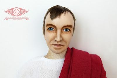 ADdoll_Filosof_3 Античный философ авторская текстильная кукла Алёны Дороховой