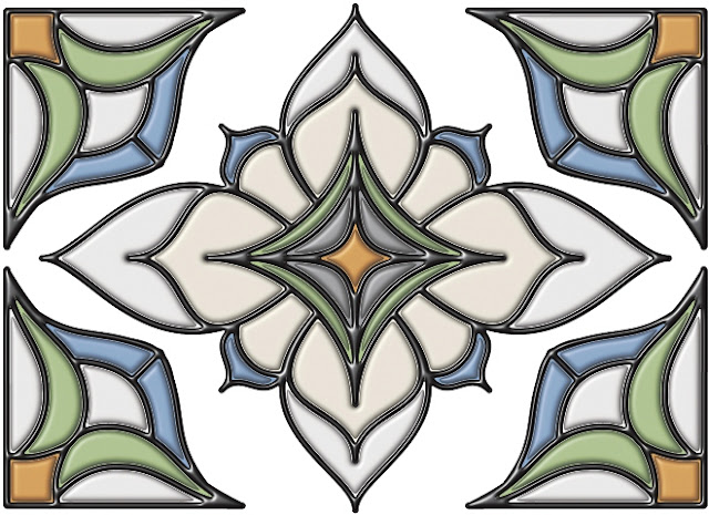 Stained GLASS Appliques for Windows