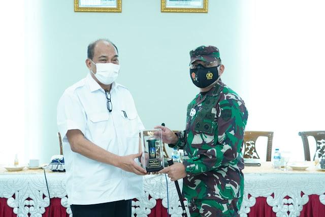 Sambut Kunjungan Kerja Danrem 022/PT,  Walikota Paparkan penanganan Covid-19 di Kota Tebingtinggi
