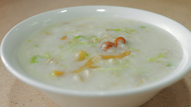 Congee In Lychee Boat Style