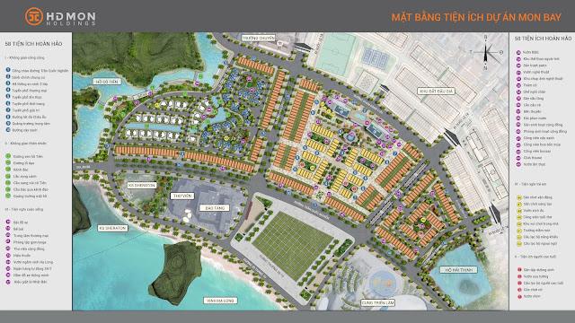 Mặt bawng quy hoạch phân khu dự án Mon Bay Hạ Long