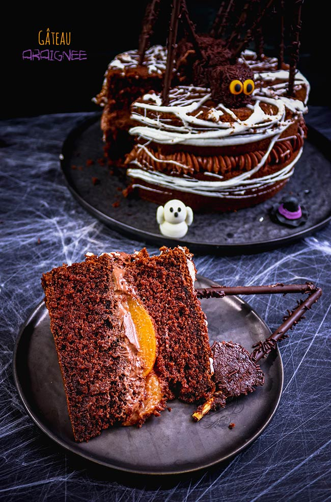 layer cake chocolat halloween