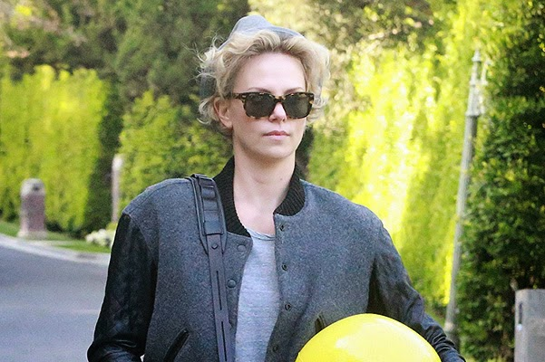 Charlize Theron goes to a party in Beverly Hills
