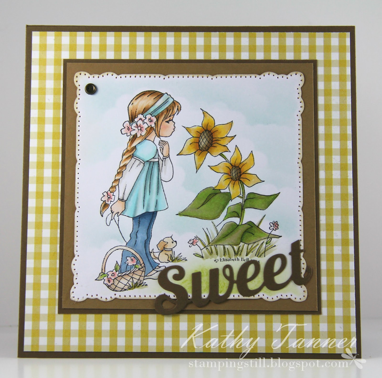 whimsy stamps, sunnydee and sunflower, sweet die