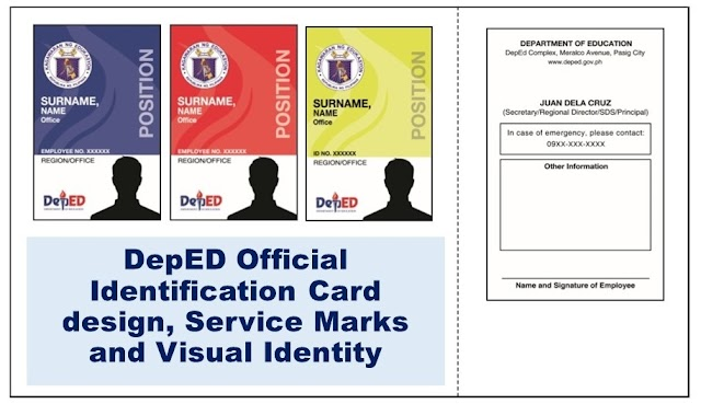 DepED Official Identification Card design, Service Marks and Visual Identity