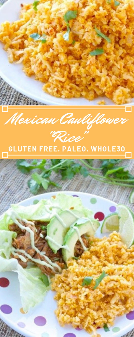 "Mexican Cauliflower ""Rice"" #eating #lunch #cauliflower #dinner #healthyrecipes"