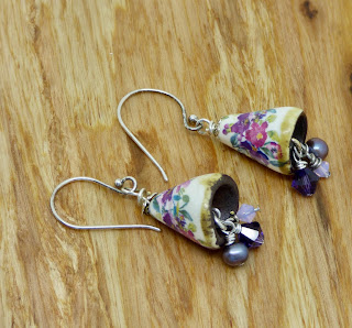 Floral Earrings by BayMoonDesign