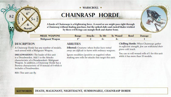 Chainrasp horde warscroll