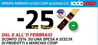 Logo Coop Alleanza 3.0 ti regala lo sconto del 25% sulla spesa