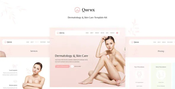Download Dermatology and Skin Care Template Kit