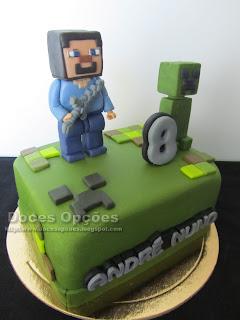 Bolo aniversário Lego Minecraft bragança