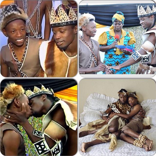 COPPIA GAY SI SPOSA LEGALMENTE CON IL RITO TRADIZIONALE AFRICANO (VIDEO)