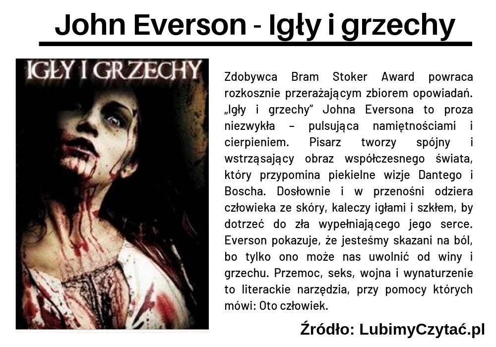 John Everson - Igły i grzechy, Topki, Marzenie Literackie