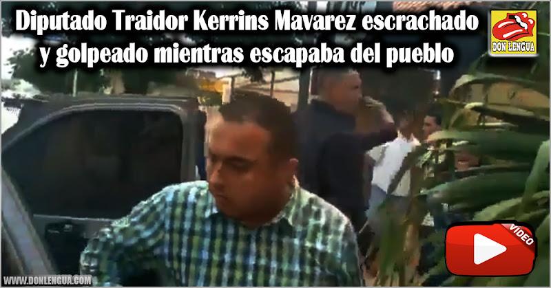 Diputado Traidor Kerrins Mavarez escrachado y golpeado mientras escapaba del pueblo
