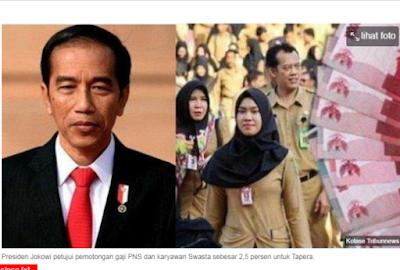 SAH! Berlaku Mulai Januari 2021, Jokowi Setujui Gaji PNS dan Karyawan Swasta Dipotong 2,5 Persen