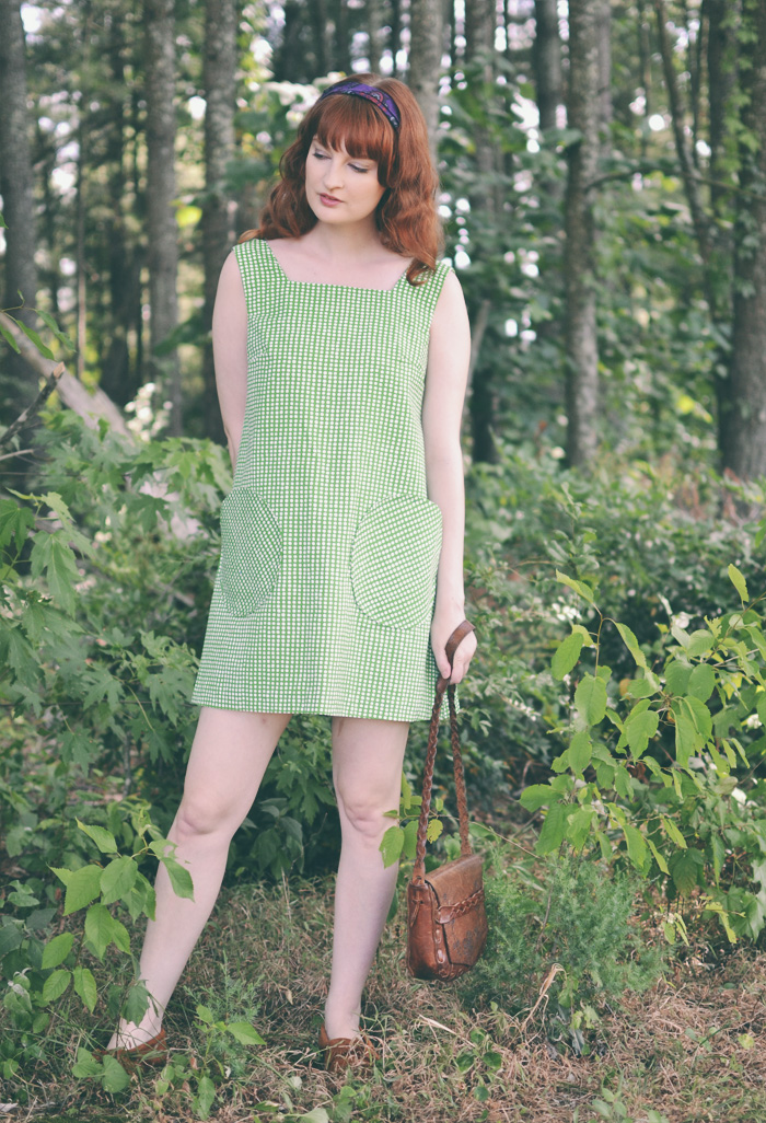 The Flying Clubhouse: Green Mod Tent Dress | 60s Vintage