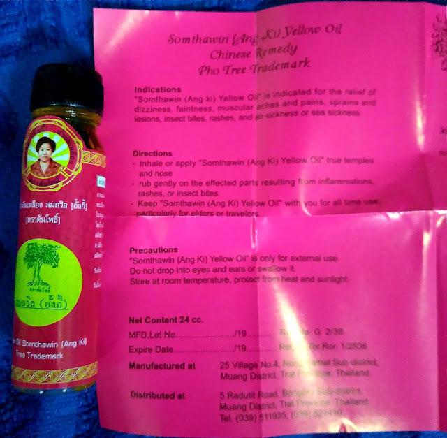 Jasa TItip Minyak Angin Kuning Merek Somthawin (Ang Ki) Yellow Oil Remedy Pho Tree Trademark, Made in Thailand