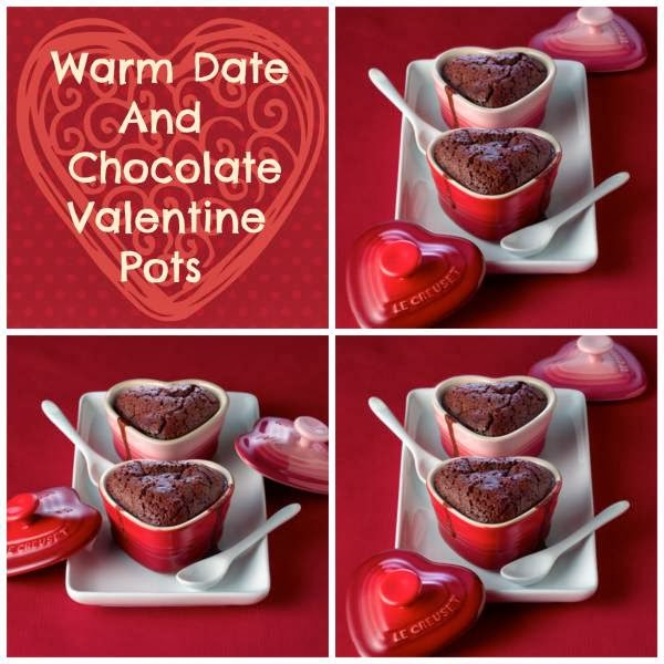 Warm Date And Chocolate Valentine Pots