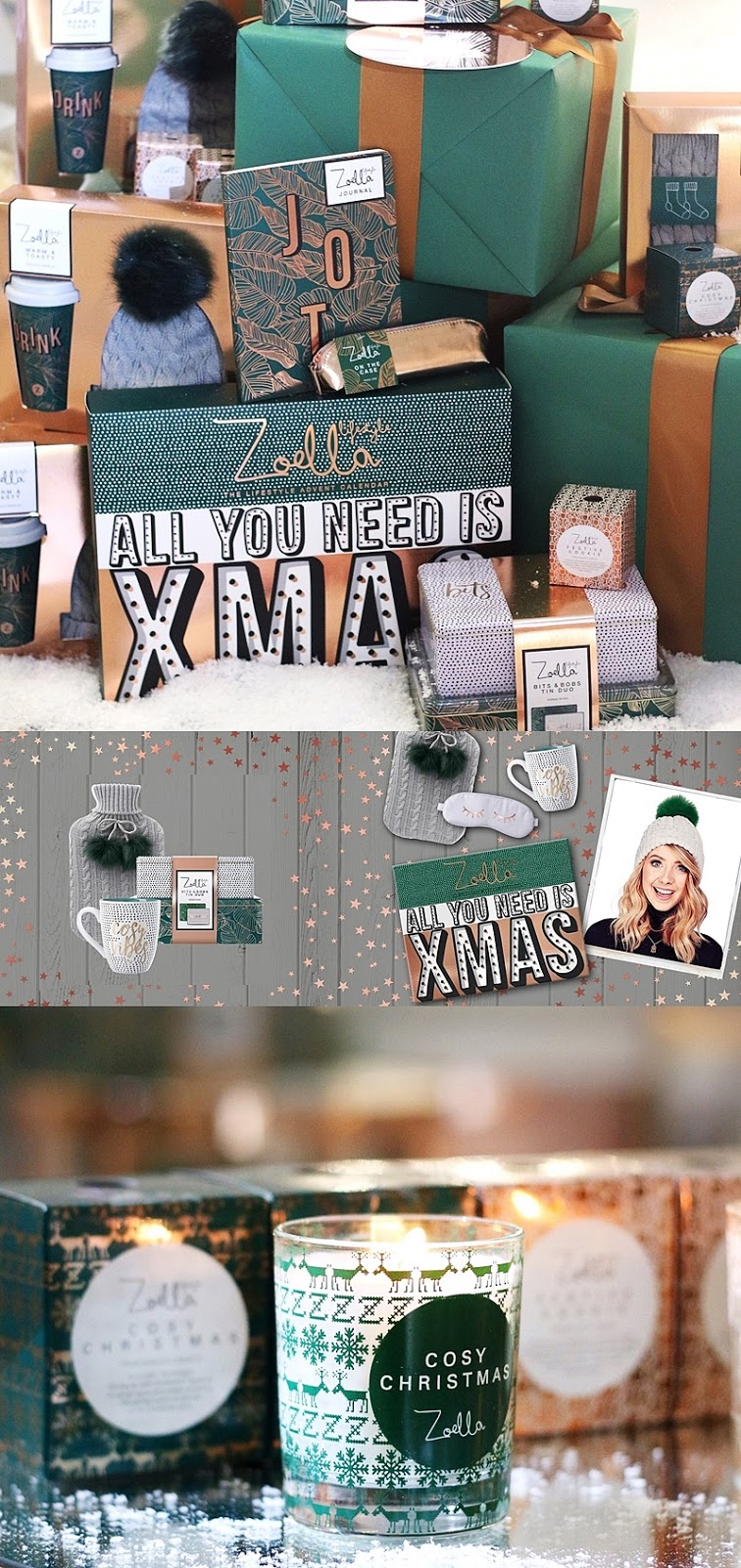 First Look at Zoella Lifestyle Christmas Collection 2017 | Makeup ...
