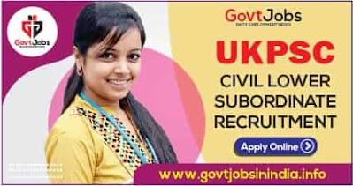 UKPSC Civil Lower Subordinate Pre Exam