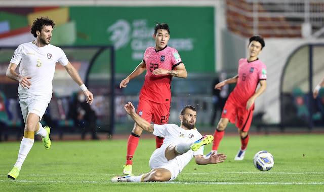 ملخص اهداف مباراة كوريا الجنوبية وسوريا (2-1) تصفيات اسيا لكاس العالم