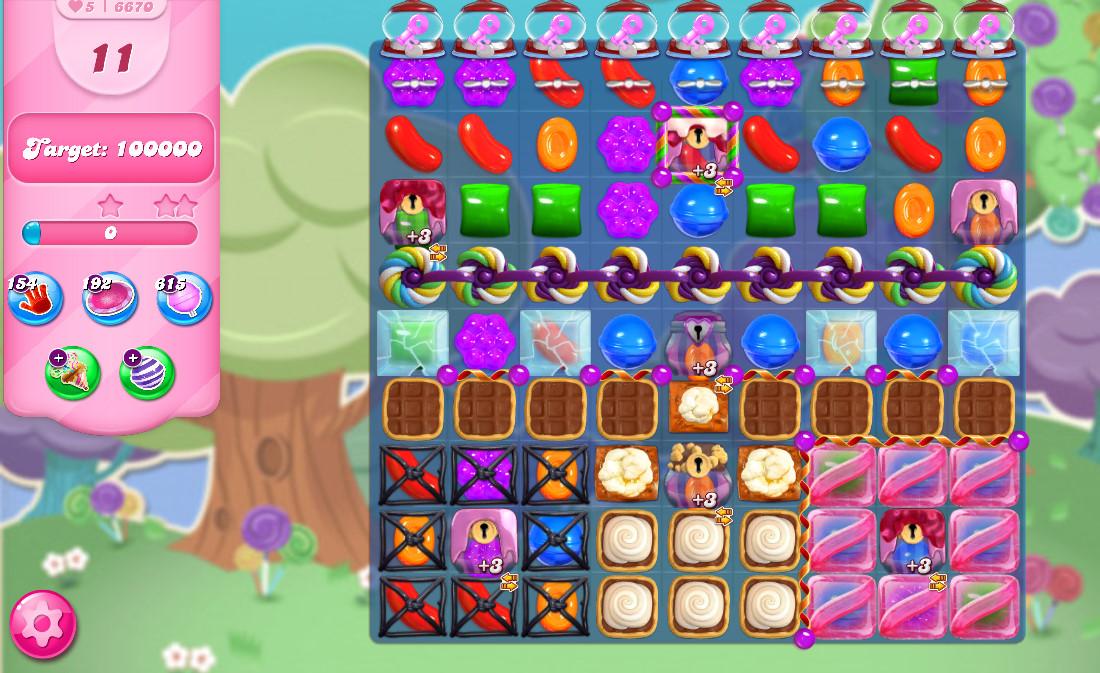 Candy Crush Saga level 6670