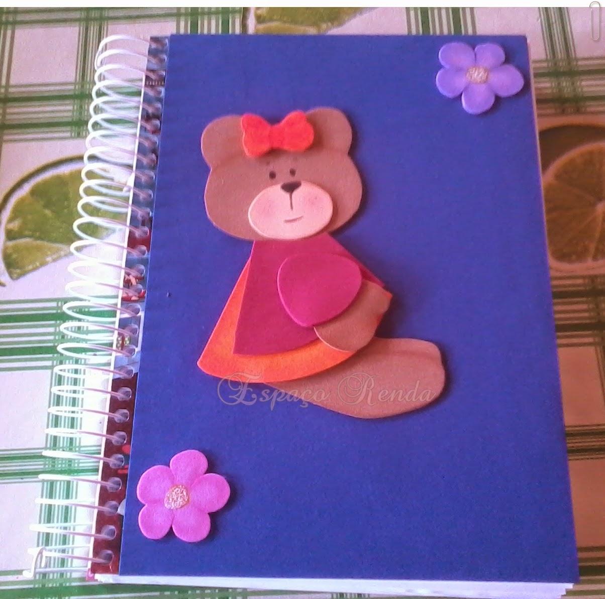 Capa para caderno em EVA