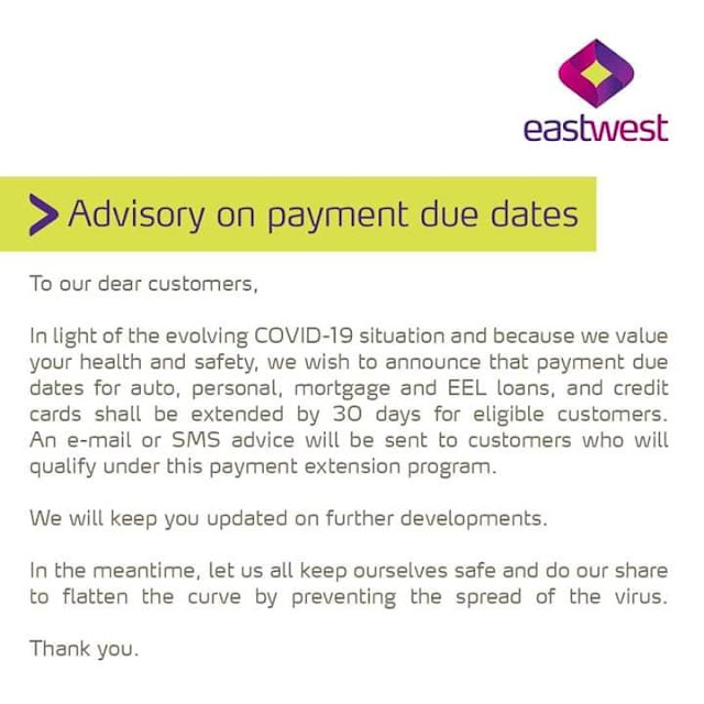EastWest Bank Payment Extension
