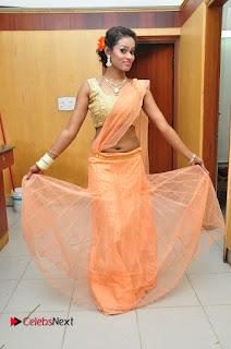 Actress Nisha Pictures in Saree at Jakkanna Movie Audio Launch  0058.JPG