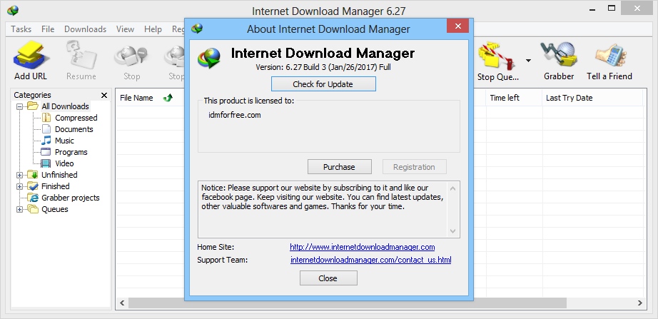 patch internet  manager 6.27